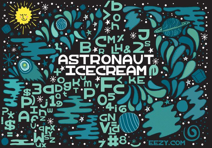 Astronauta Ice Cream Vector Font