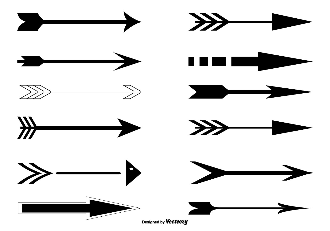 vector arrow set download free vector art  stock graphics   images Cute Arrow Vector Vintage Arrow Clip Art