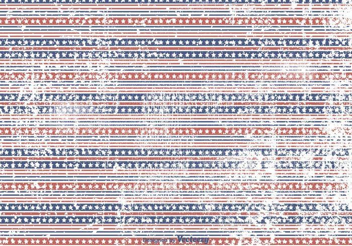 Stars and Stripes Grunge Background