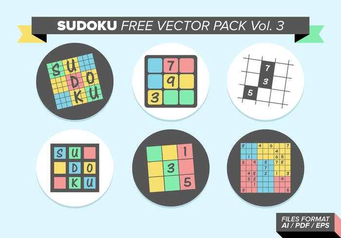 Sudoku Libre Vector Pack Vol. 3