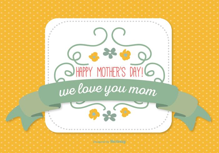Cute Mother's Day Illustration vector