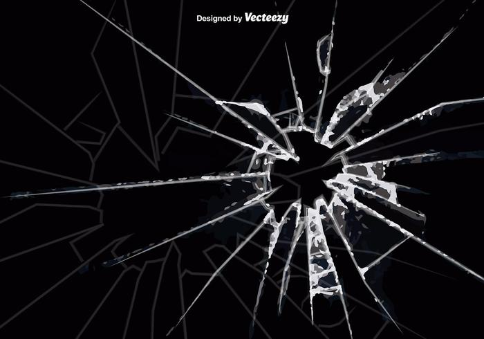 Vector Cracked Glass Hintergrund