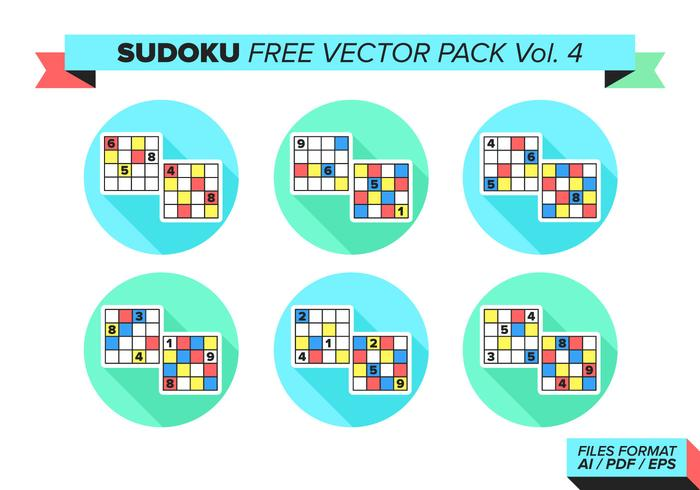 Sudoku Free Vector Pack Vol. 4