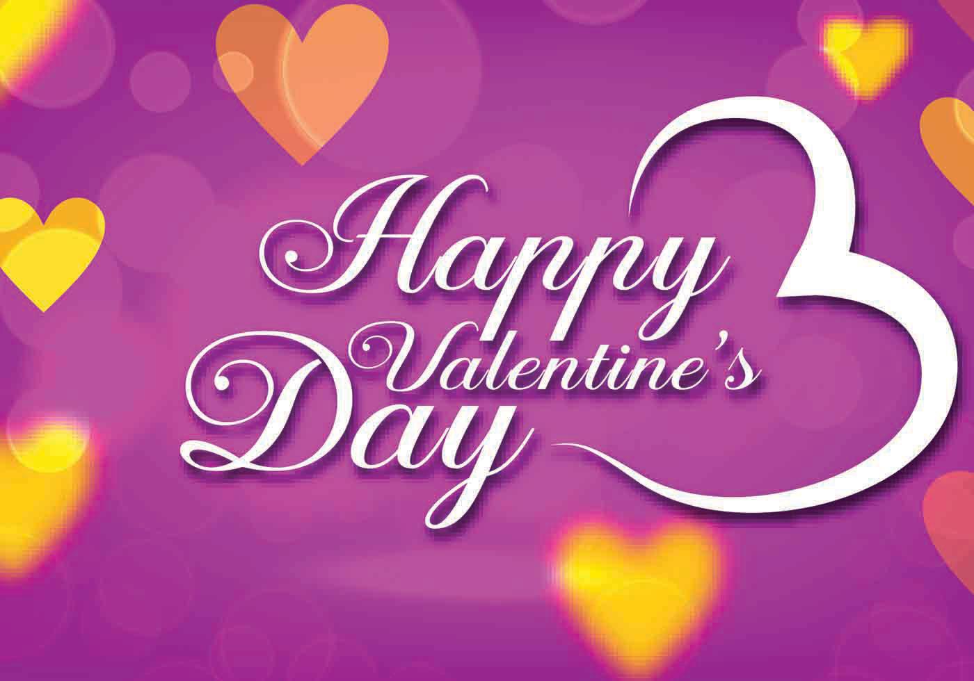 Valentines Day: Purple Valentines Day Vector