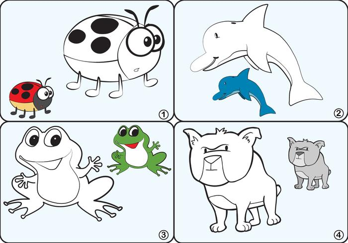 Coloring Page Vectores animales