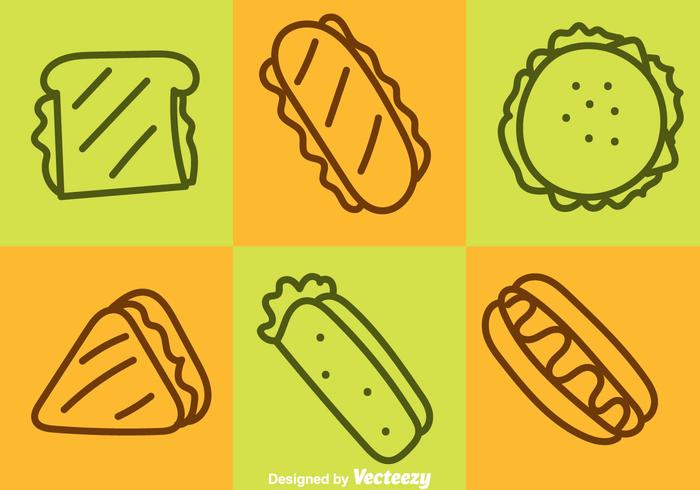 Fast Food Outline Icons