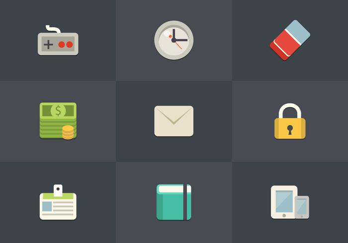 Free Flat Icon Set 08 Vector