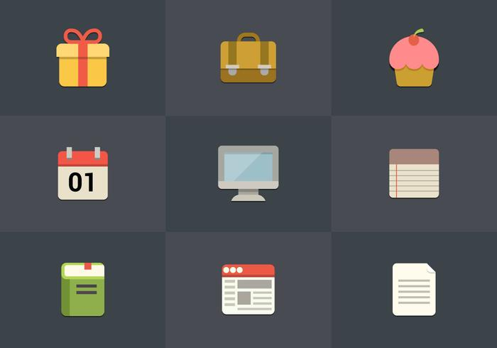 Free Flat Icon Set 07 Vector