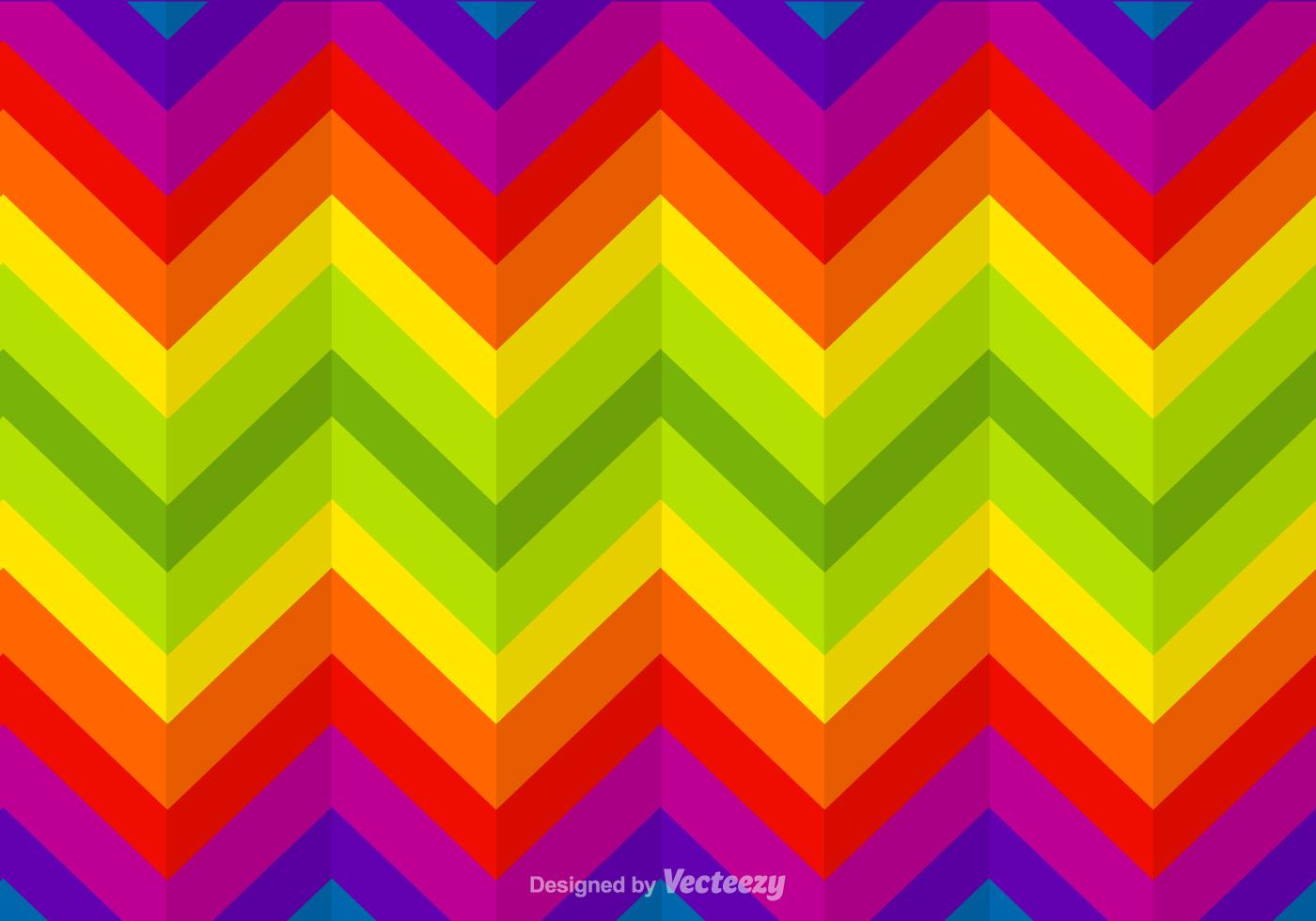 Zigzag Rainbow Vector Background - Download Free Vector
