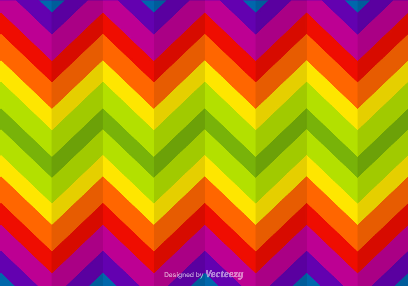 Free Zigzag Rainbow Vector Background Download Free