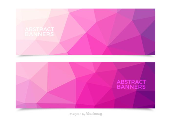 Free Pink Abstract Vector Banners