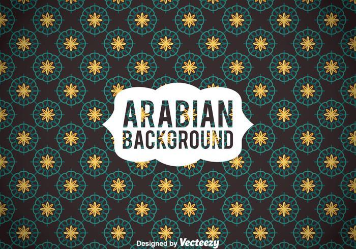 Fond d'ornamet élégant arabe