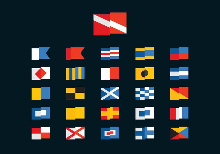 Free Dive and Marine Vector Flags