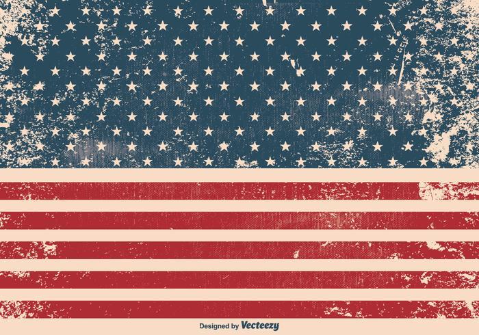 Grunge American Flag Background