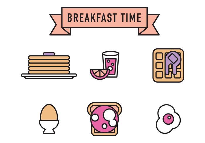 Icônes de vecteur de petit-déjeuner