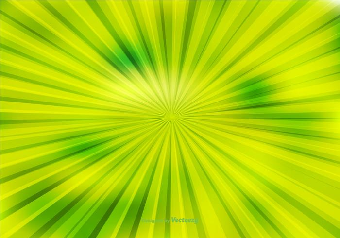 Fundo de Sunburst abstrato verde