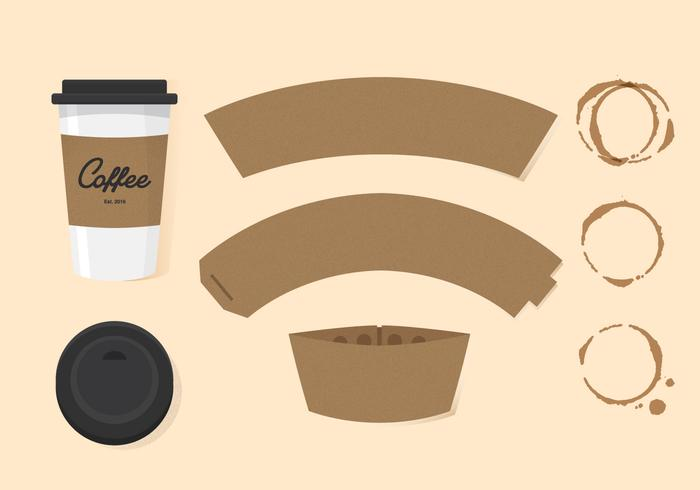 Vector Coffee Sleeve - Download Free Vector Art, Stock Graphics ...