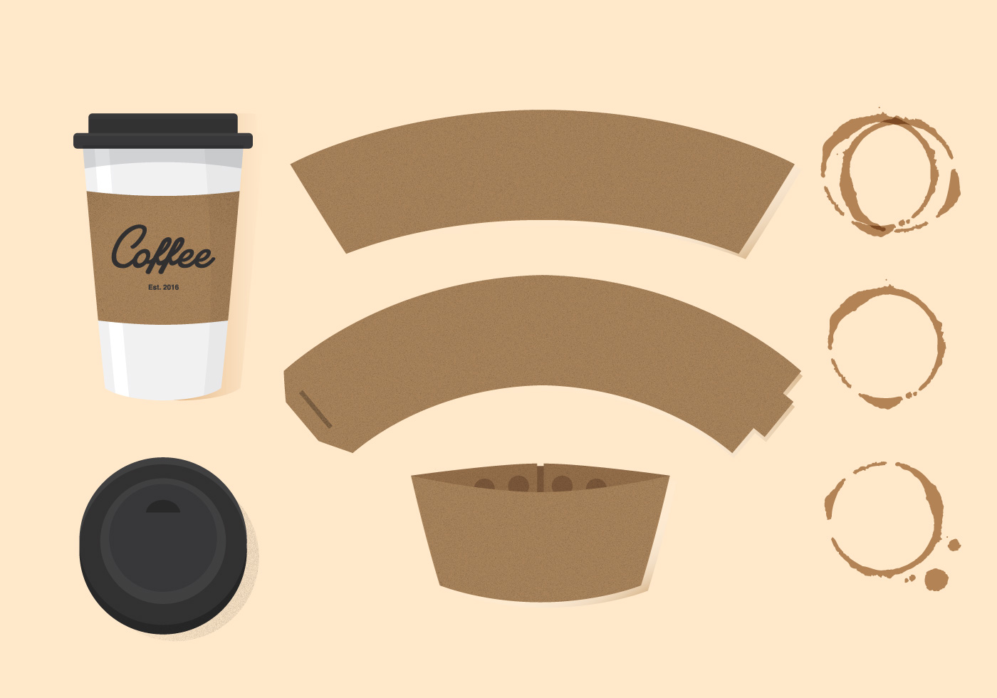 vector coffee sleeve download free vector art stock graphics images. Black Bedroom Furniture Sets. Home Design Ideas