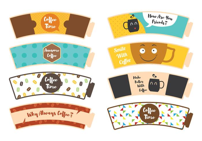 Coffee Sleeve Sticker vector
