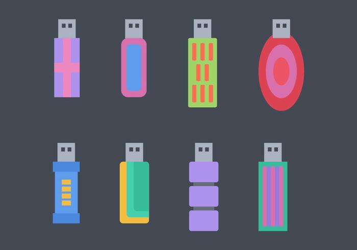 Gratis Pen Drive Vector Pack