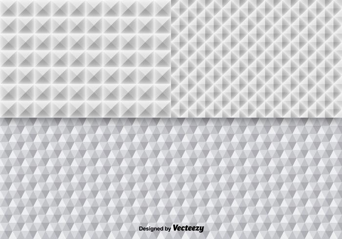 White Geometric Seamless Pattern Vectors