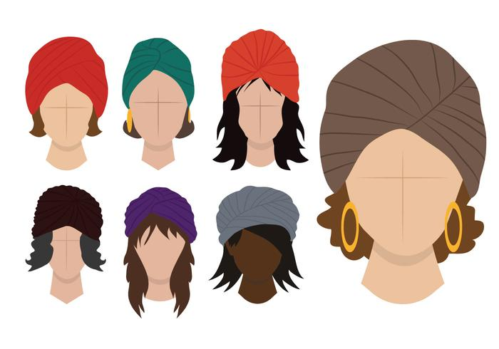 Ladies Turban Vector