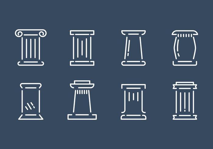 Kostenlose Römische Säule Vektor Set