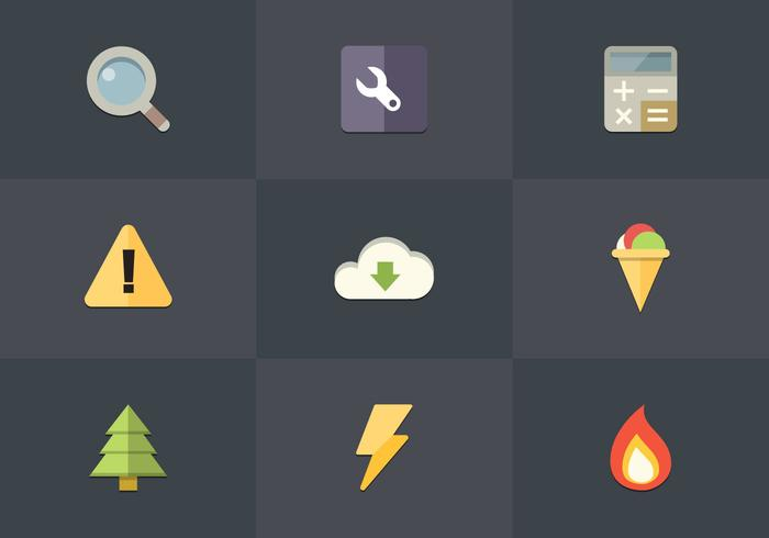 Free Flat Icon Set 04 Vector