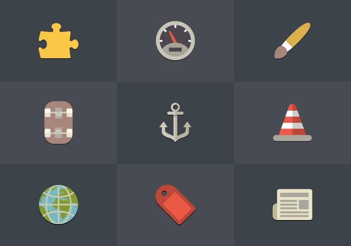 Icono de conjunto de iconos libres 09 Vector