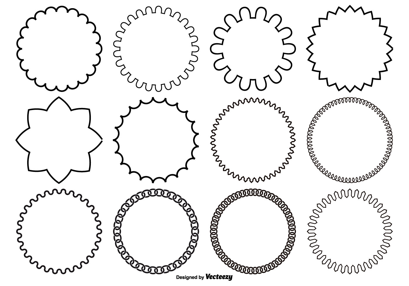 Assorted Circle Vector Shapes - Download Free Vector Art ...