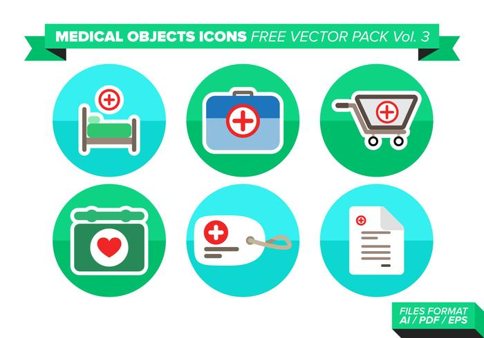 Medical Objets Icons Vector Pack Vol. 3
