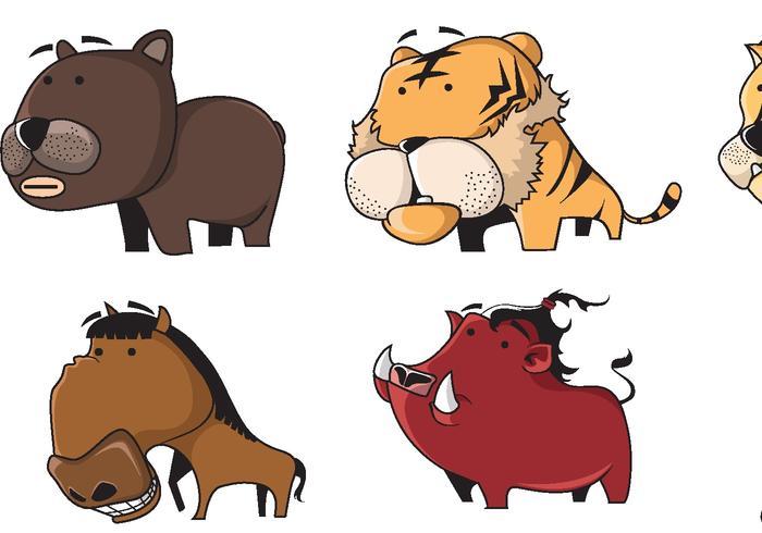 Animal Cartoon Vectors