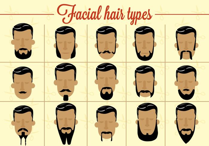 Vector libre del pelo facial