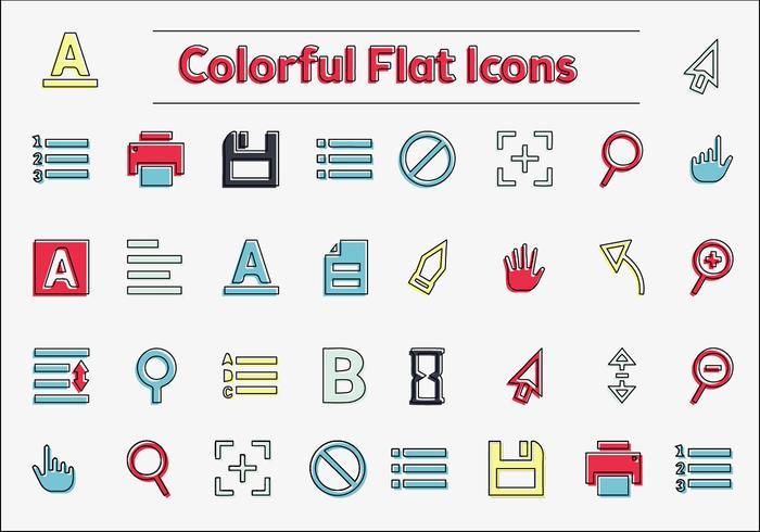 Icônes vectorielles colorées gratuites