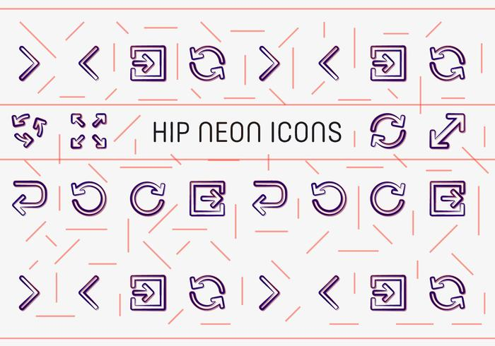 Free Hip Neon Vector Icons