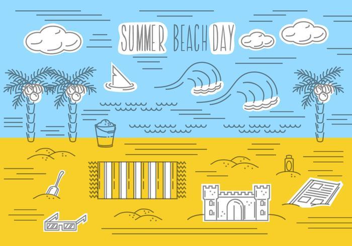 Free Summer Beach Vector Background
