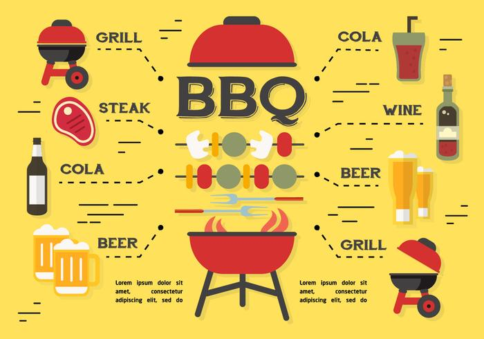 Barbecue Elements Vector Background