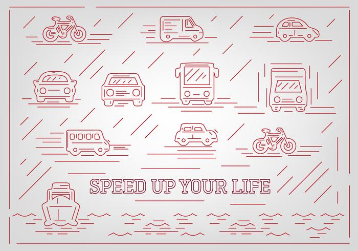 Free Abstract Vehicle Vector Icons