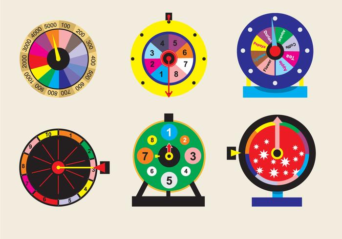 Spinning Wheel Game Vector