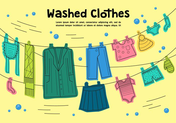 Free Washed Clothes Vector