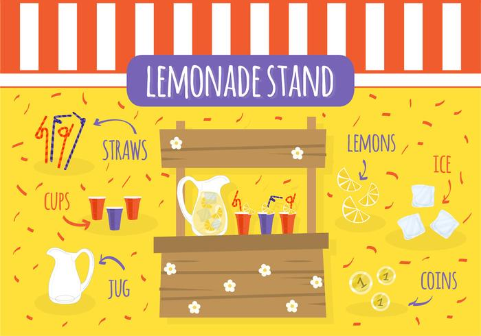 Free Lemonade Stand Vector - Download Free Vector Art, Stock Graphics ...