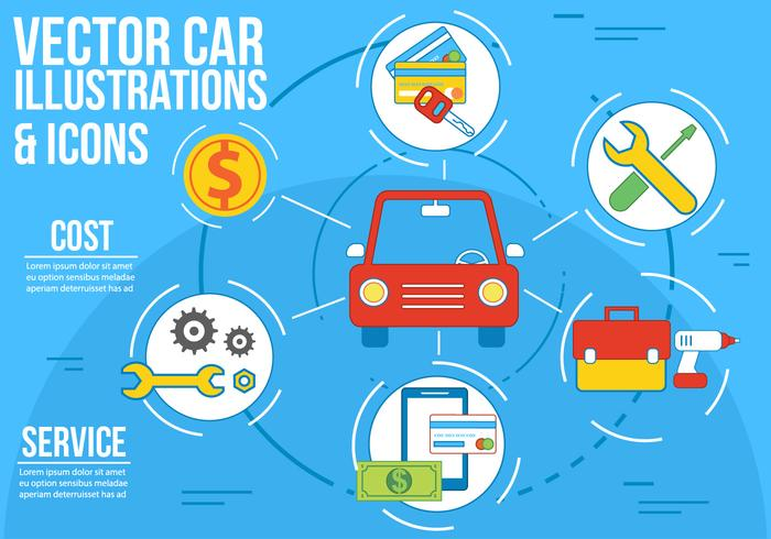 Free Vector Car Illustration and Icons