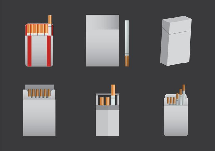 Free Cigarette Pack Vector Illustration