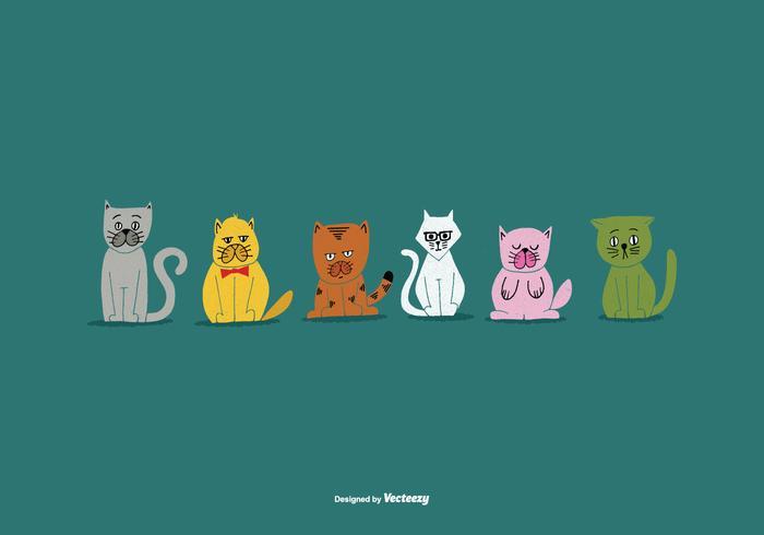 Vecteurs nationaux de chat de la semaine des animaux de compagnie
