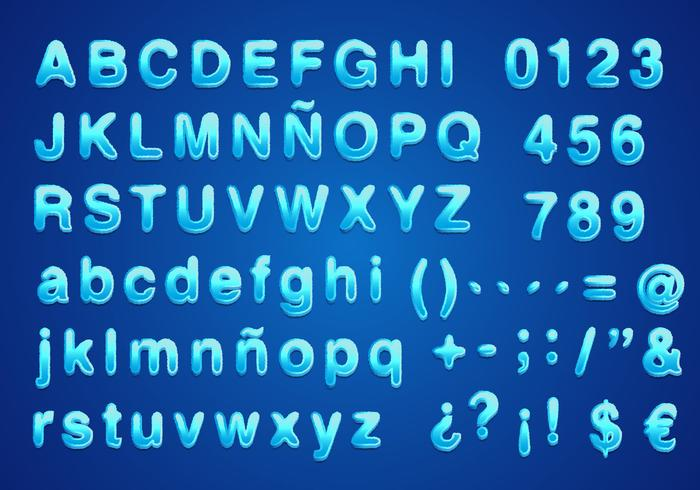 Water font vector free