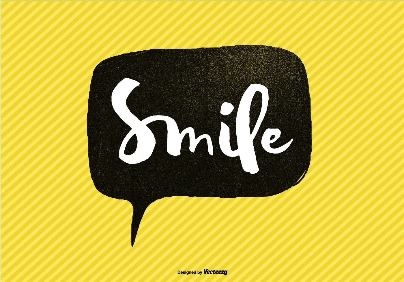 hand lettered smile speech bubble vector download free