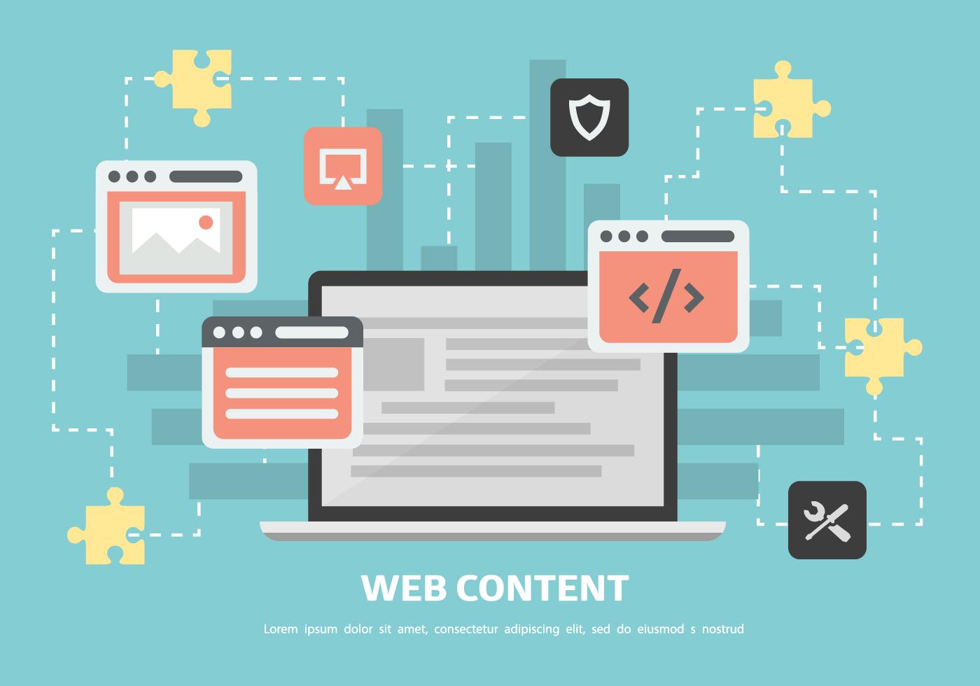 Vector Illustration Web Designs: Free Web Content Vector Background