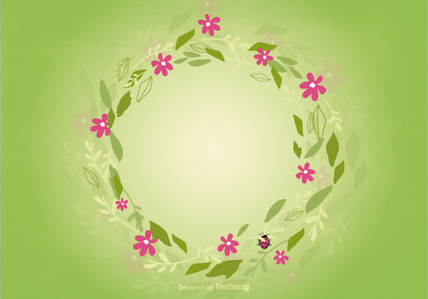 Floral Wreath Background Download Free Vector Art Stock