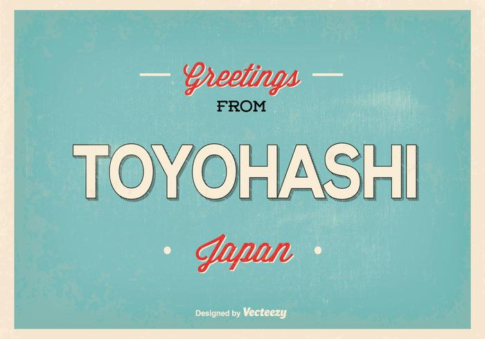 Retro Toyohashi Japan hälsning illustration