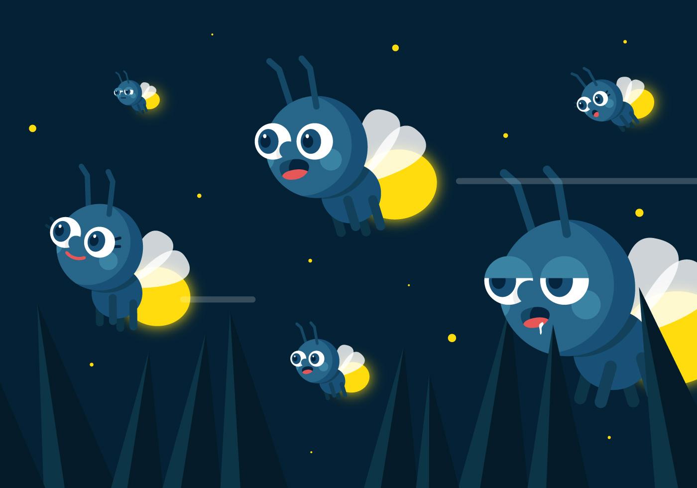 Sticker Wallpaper Vector Fireflies Download Free Vector Art Stock